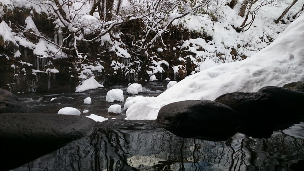 水上温泉・露天風呂からの川の眺め