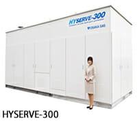 HYSERVE-300 サイズを人と比べてください