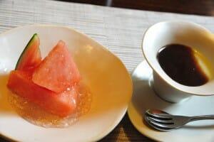 山形県鶴岡市 九兵衛旅館 朝食デザート