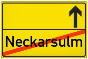 Ortsausgangsschild Stadt Neckarsulm