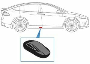 モデルX:キーの電池がなくスマホもない場合のアンロック方法