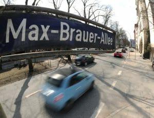 今回の規制の対象の一つ「マックス・ブラウアー通り(Max-Brauer-Allee)」。ターミナル駅の近くにある。