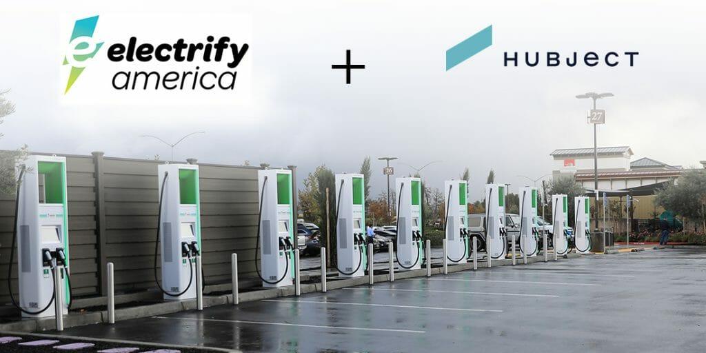 Electrify America(EA)とHubjectが提携したと伝える、EAのニュースリリースの画像。EAの公式サイトより転載。