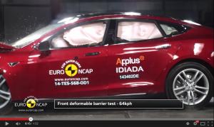 Tesla Model S Euro NCAP Crash Test
