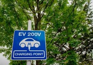 EV(電気自動車)の充電看板