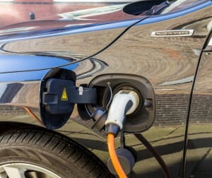 Plug in hybrid electric car charge point