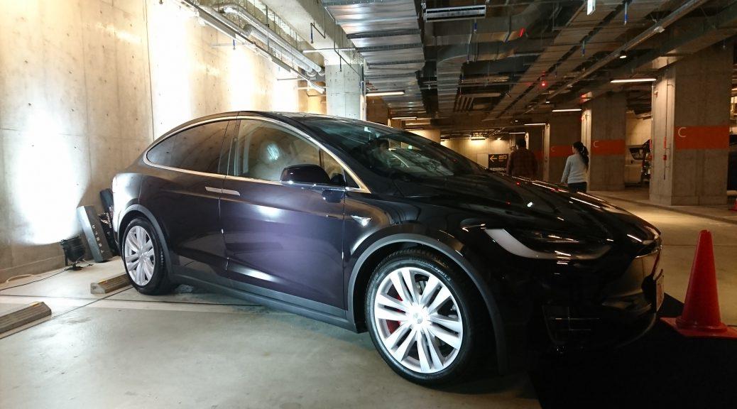電気自動車テスラモデルXで東京名古屋往復