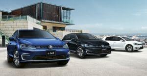 e-Golfの特別仕様車「Premium」。「充電カード」と充電器検索アプリ「EasyEV」との三本立てで、EV購入・使用の敷居を低くする戦略。