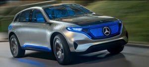 Mercedes Electric EQ SUV。NMC811を最初に搭載すると見られています。Mercedes-Benzの公式サイトより転載。