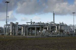Groningenの天然ガス採掘プラント。Wall Street Journalのサイトより転載。