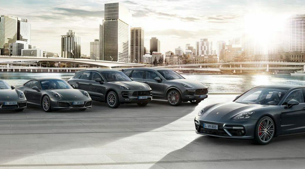 ポルシェ社の2018年時点のラインナップ。これらのうち911だけがPHV版の「911er」として、内燃エンジンを残す唯一のモデルになる日が9年後には来そうです。ポルシェ社の公式サイトより画像を転載。