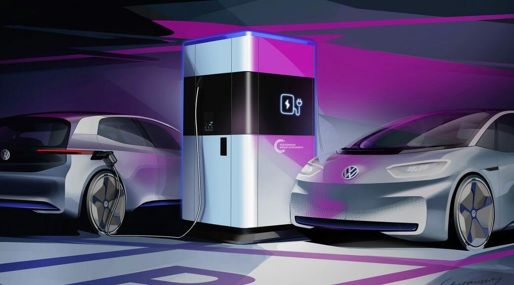 フォルクスワーゲンが360kWhを蓄電する急速充電ステーションを量産開始