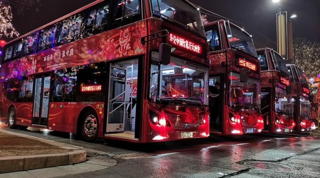 西安市がBYD社製の電気公共バス3000台以上を運用開始