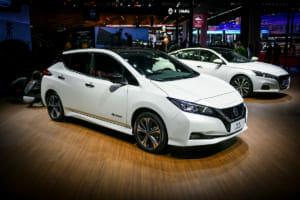 2019年の上海モーターショーでの日産シルフィー(電気自動車)。リーフをベースとして、信頼性で魅力を訴える。日産の公式サイトより。