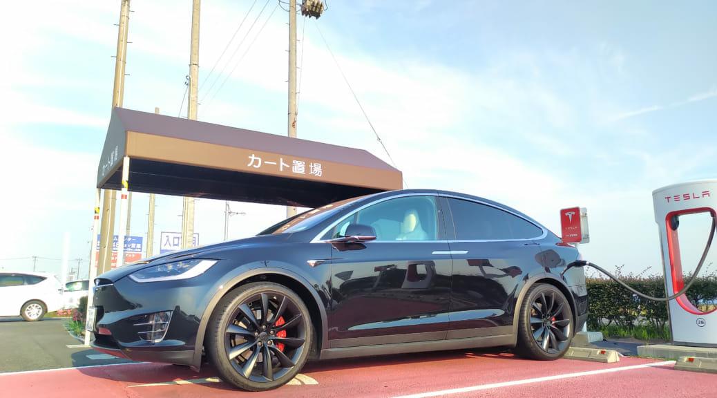 電気自動車テスラモデルXで往復1000km:東京-福井3回目