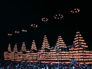 二本松市の提灯祭。二本松市の公式サイトより転載。