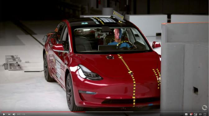 米機関の安全性評価でテスラ「モデル3」が最高格付けに認定