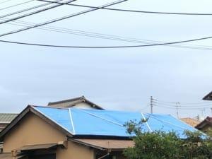 Nさんのお宅の近く、千葉市の市原市寄りでも、ブルーシートで屋根を覆った家をよく見かける。