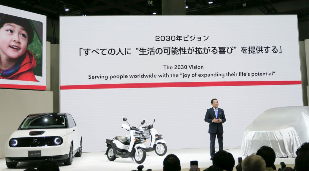 東京モーターショー2019で日本初登場『Honda e』の「質感」を確かめてみた