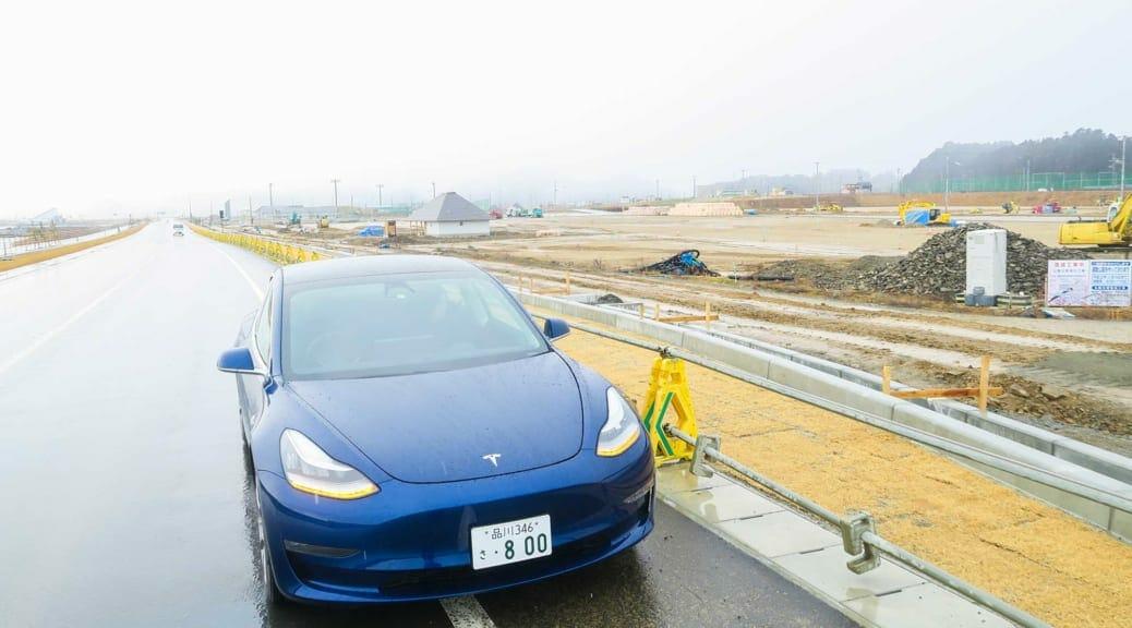 テスラモデル3で津波被災地探訪〜冬のスタッドレス長距離ドライブ【復路編】