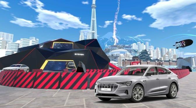 アウディが電気自動車『e-tron』のバーチャル試乗やタイムトライアル大会を開催