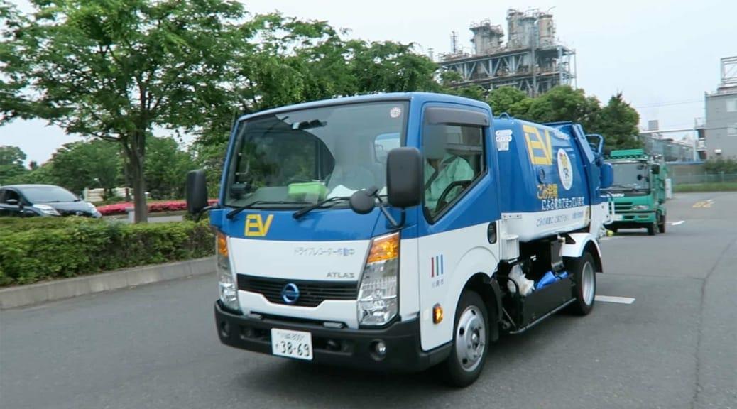 川崎市で活躍するEVゴミ収集車のバッテリー交換シーンを見てみたい!