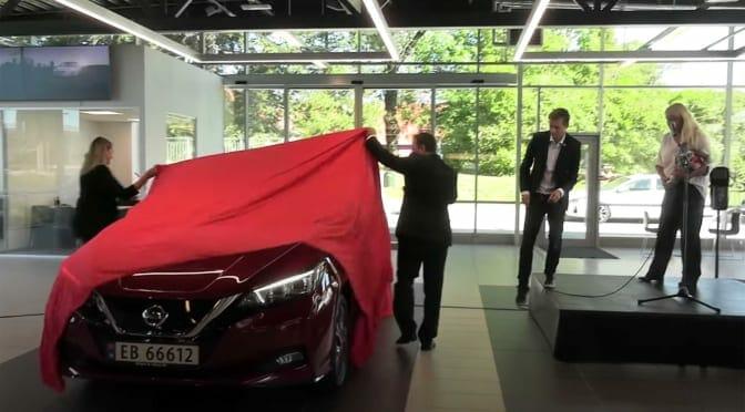 おめでとう! 50万台目の日産リーフ納車セレモニーをノルウェーからレポート