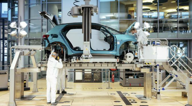 ドレスデンの透明な工場でフォルクスワーゲンID.3を生産中~4カ所目の電気自動車生産拠点