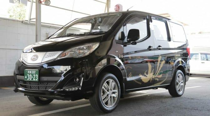京都の都タクシーがENEOSのEVリース事業と連携してBYDの電気自動車『M3e』を導入