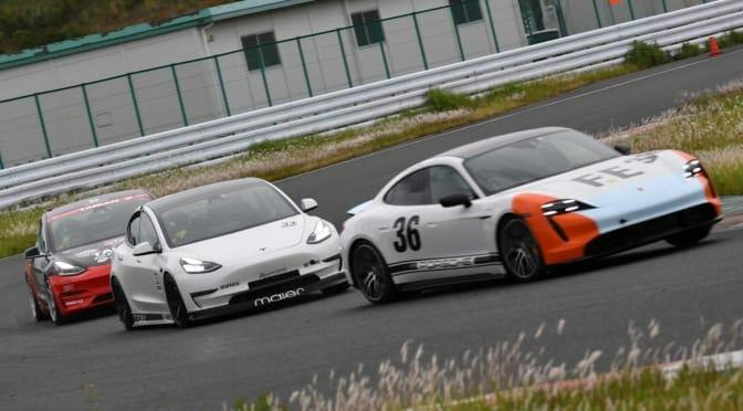 タイカン VS モデル3 に注目『JEVRAシリーズ第2戦』電気自動車レースレポート