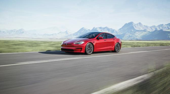 テスラ モデルS プラッドが4分の1マイル(ゼロヨン)で世界最速となる『9.23秒』を記録