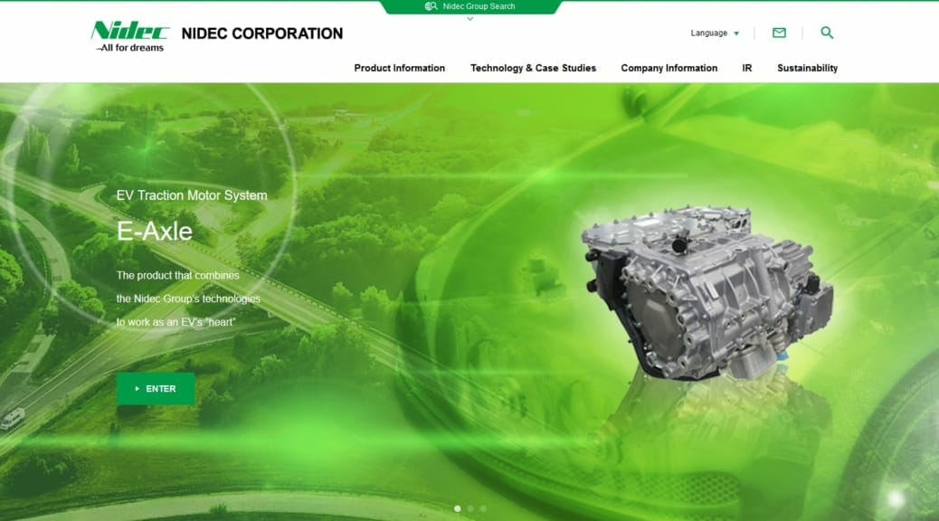 Nidec Corporation's business plan predicts EV dominance by 2025